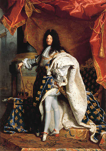 Leo mentality: Louis XIV of France. Painting by Rigaud, 1701.